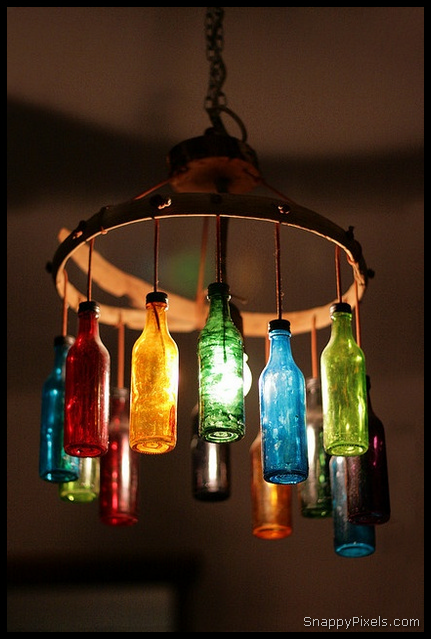 Decorate with DIY Upcycled Wine Bottle Ideas