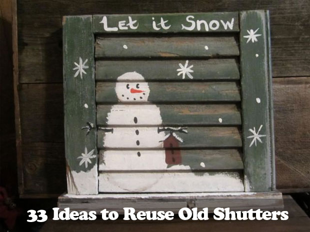 34 DIY Ideas to Reuse Your Old Shutters