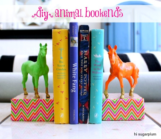 diy-painted-animals-bookends-kids