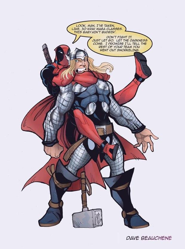 thor vs deadpool