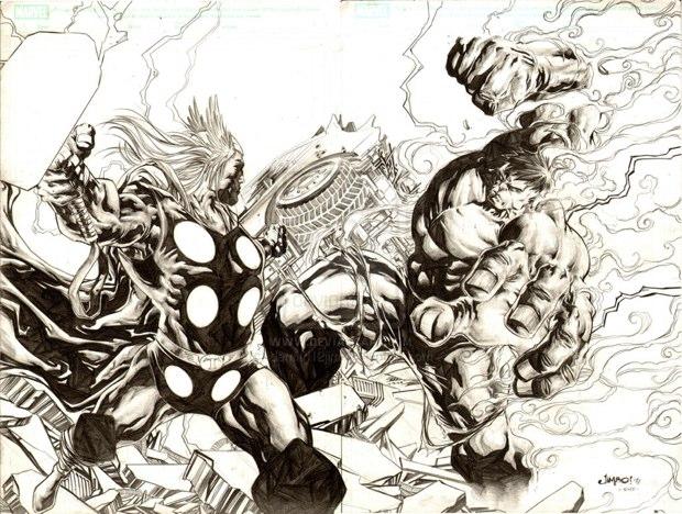 thor vs hulk 4
