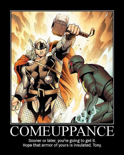 thor vs iron man 2