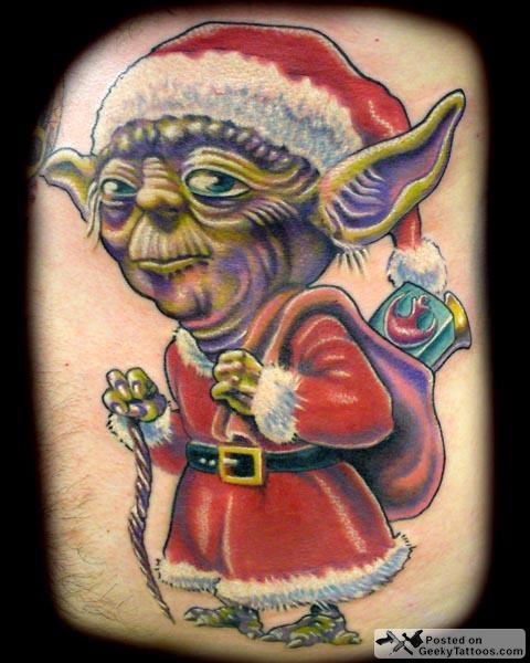Funny Christmas Holiday Tattoos
