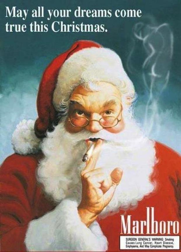 45 Unsettling Vintage Santa Ads