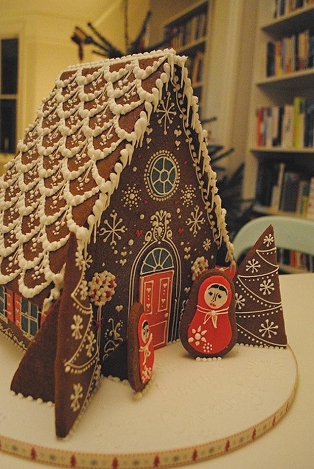 Simple-Inspiring  Gingerbread House Ideas-6