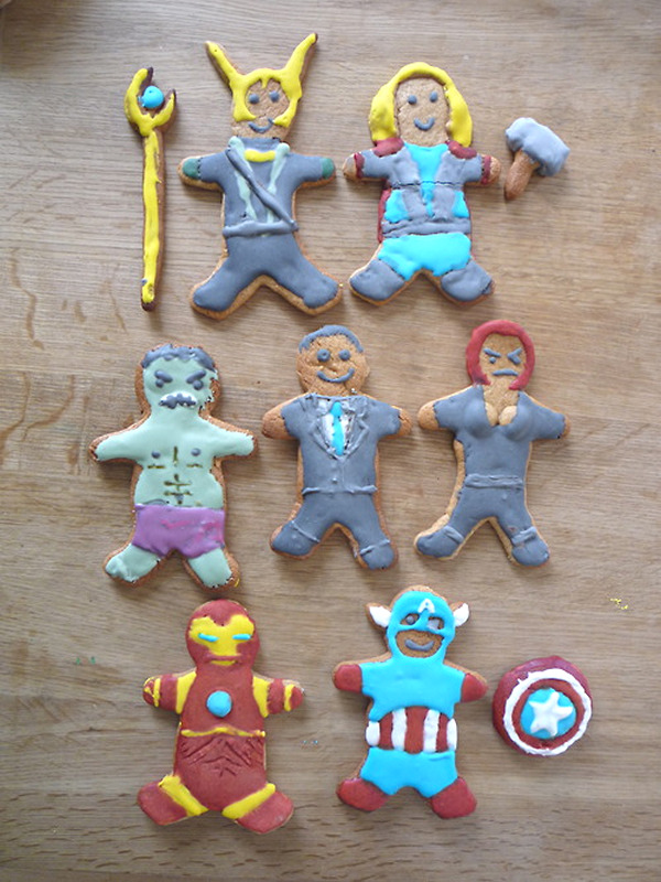 The Mightiest Cookies, 22 Avengers Gingerbread Cookies