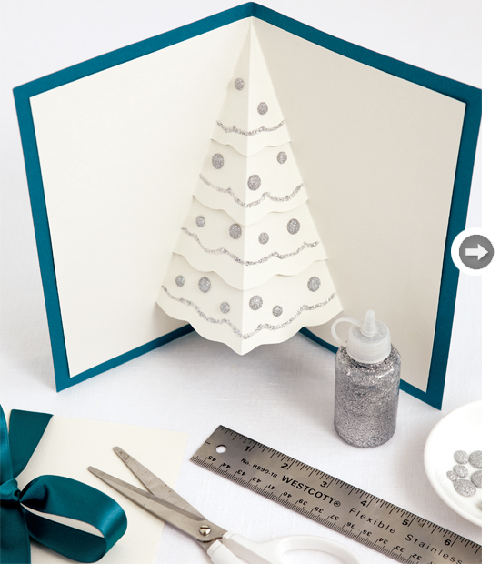 creative diy christmas tree card