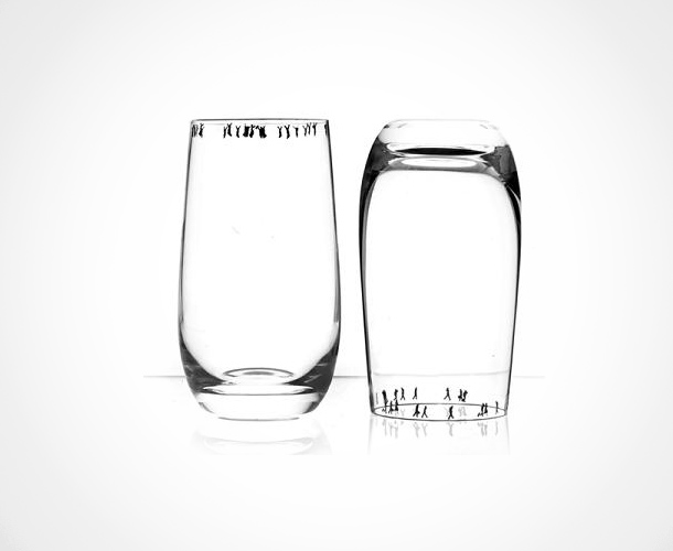 crowd glass