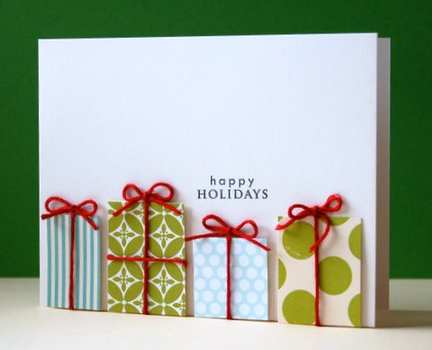 diy gift box Christmas card