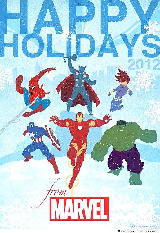 27 Marvel Super Hero Christmas Cards