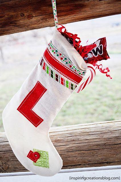 monogrammed stocking