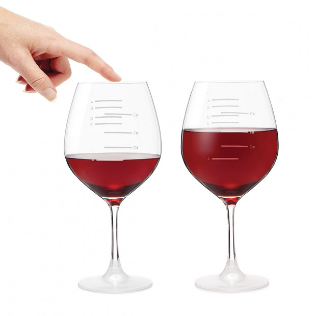muscial wine glass