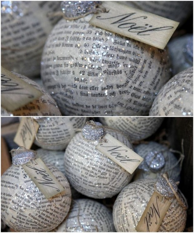 newspaper ornaments