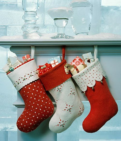red and white stockings
