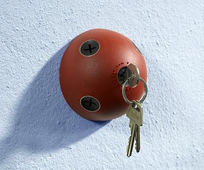 red sphere keys