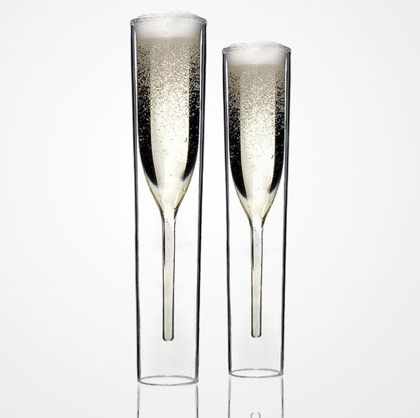 unusual champagne flute glasses