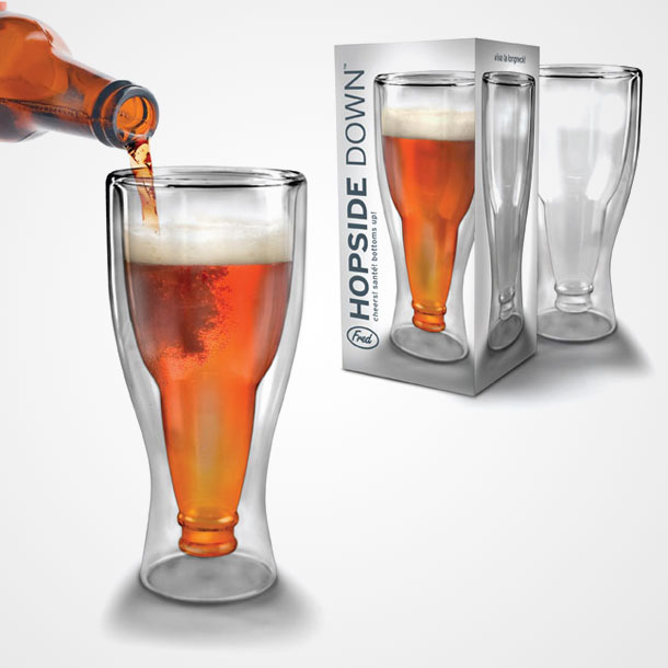 updside down beer glass