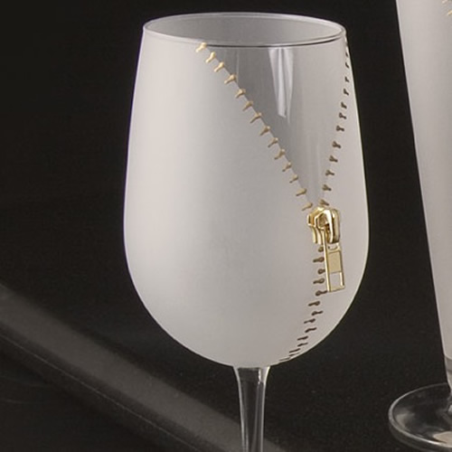 zipper wine glass