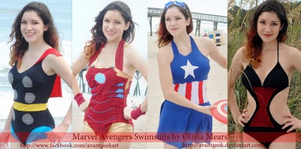 DIY Avengers Swimsuit