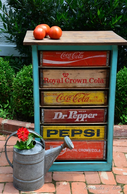 DIY vintage soda crate chest