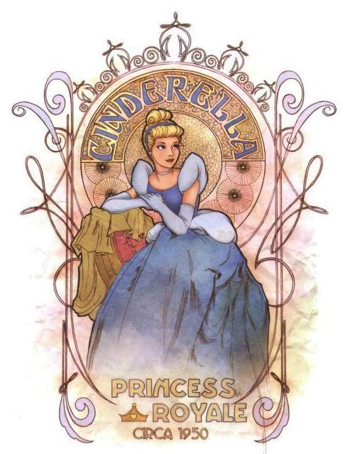 Disney-Princesses-Art-Nouveau-Collection-1