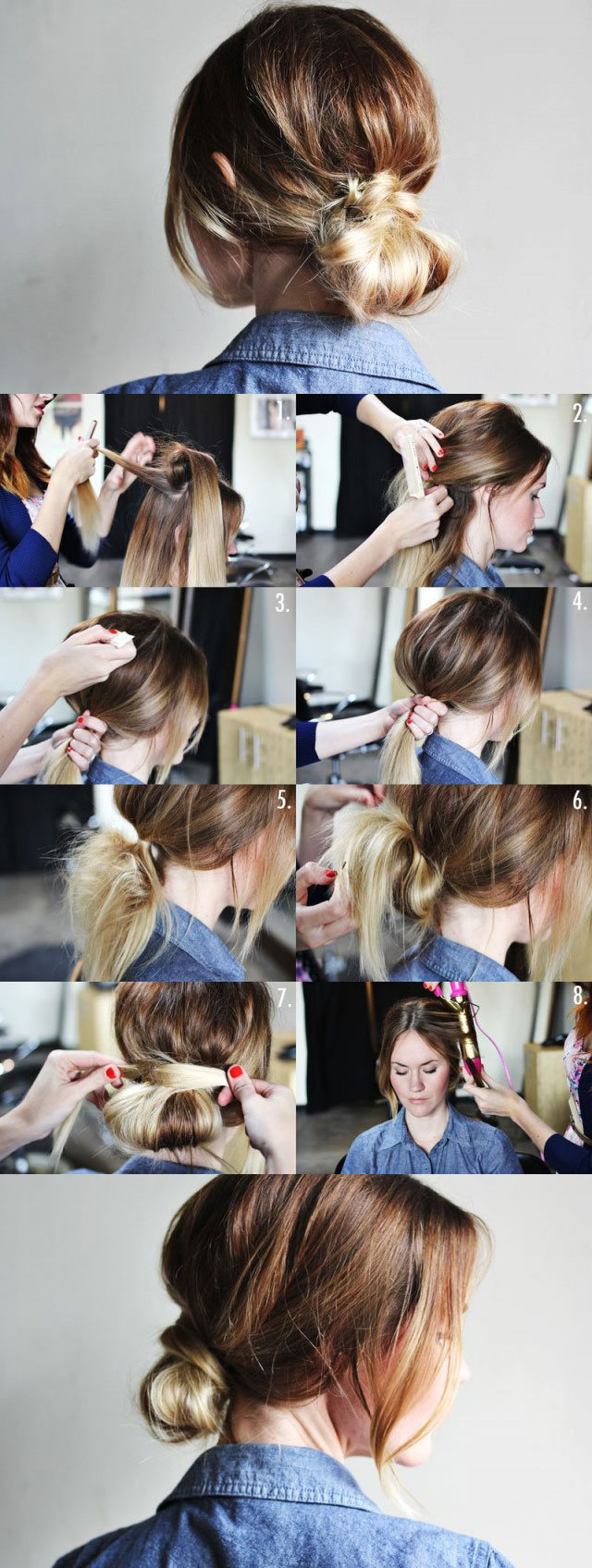Hairstyles for Long Hair Step by Step-13