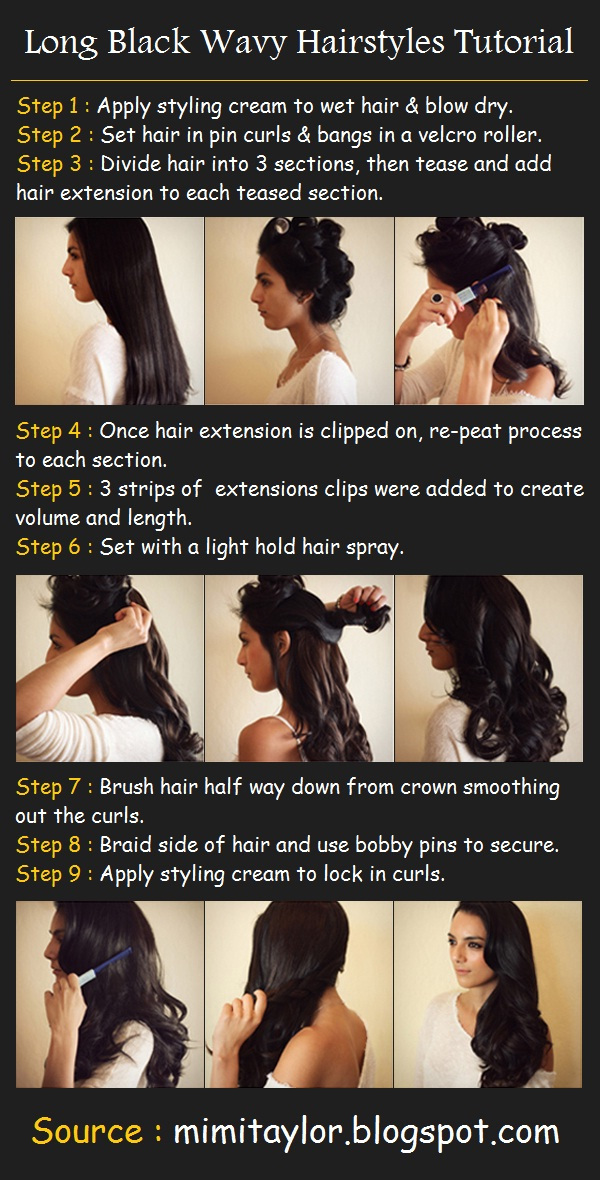 Hairstyles for Long Hair Step by Step-14