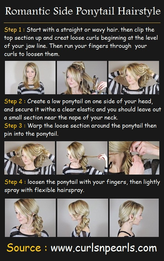 Hairstyles for Long Hair Step by Step-16