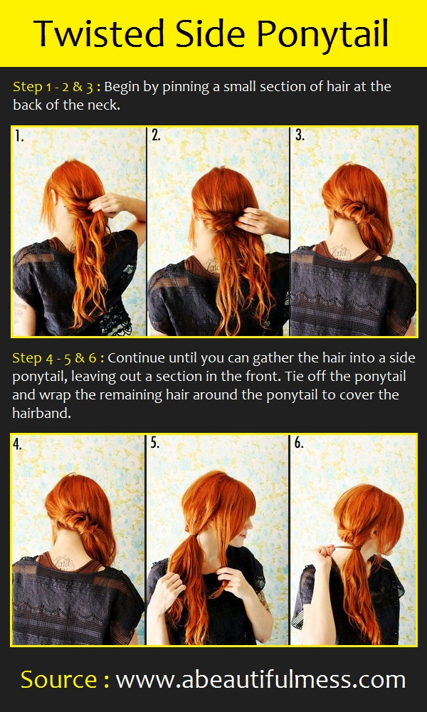 Hairstyles for Long Hair Step by Step-17