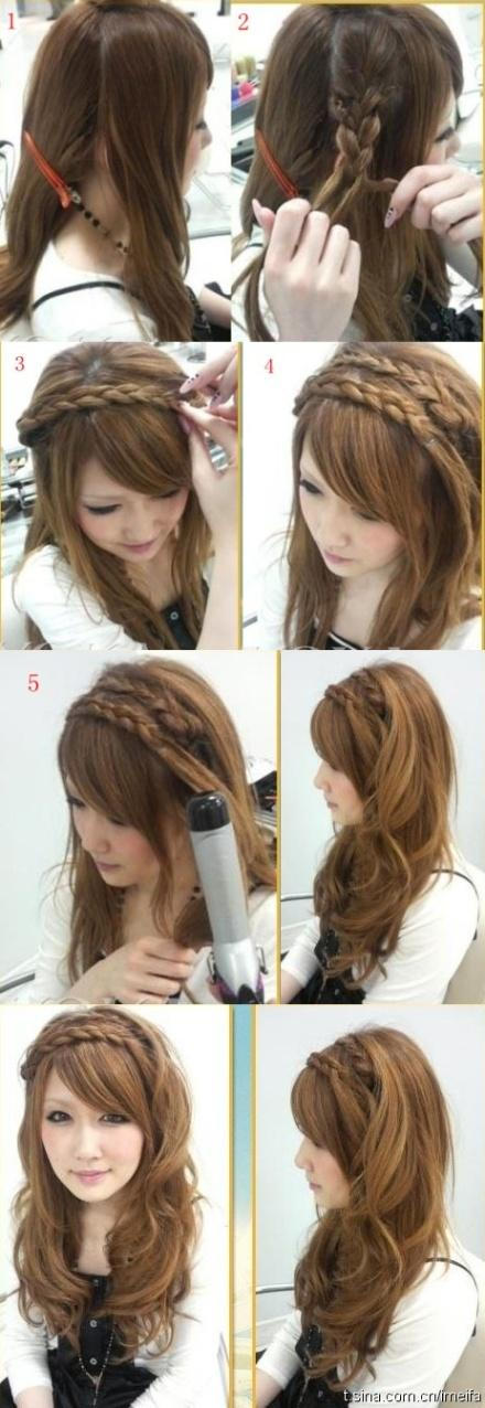 Hairstyles for Long Hair Step by Step-4