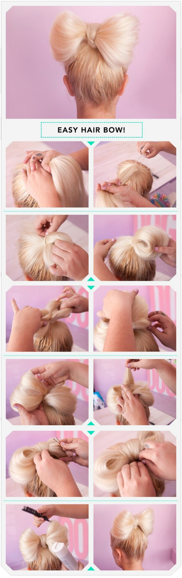 Hairstyles for Long Hair Step by Step-9