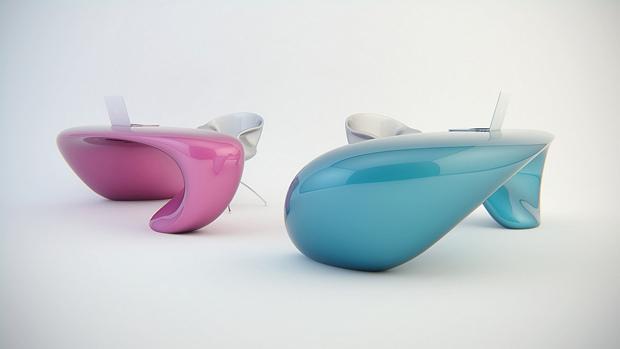 contemporary-blue-table-apple-macbook-futuristic-purple-table-white-chair-futuristic