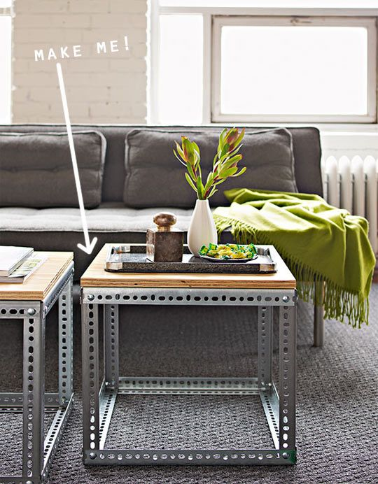 diy industrial side tables