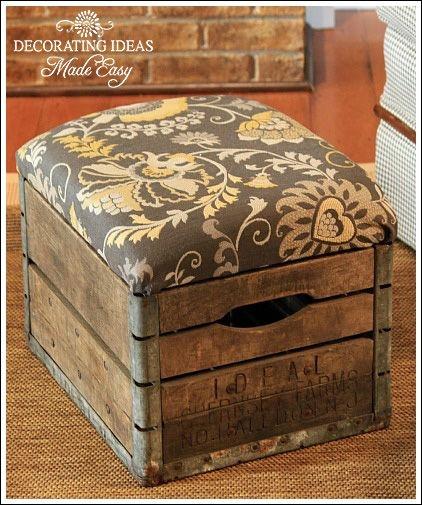 repurpose old wine crates