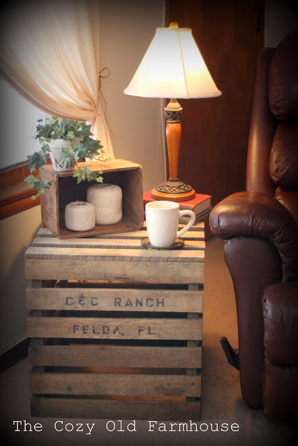 shipping crate end table