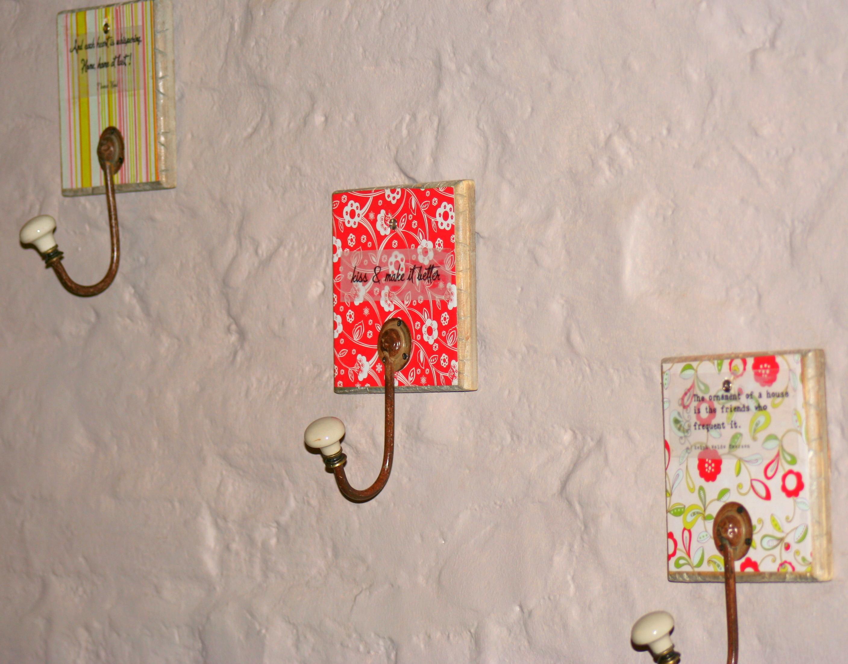 diy wall hook idea