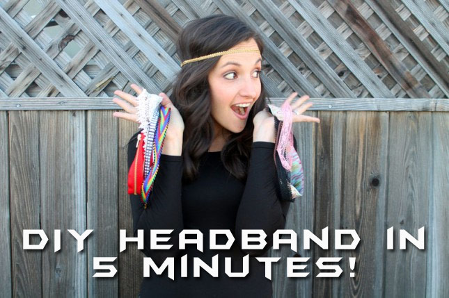 Extremely Simple DIY Headband Tutorial