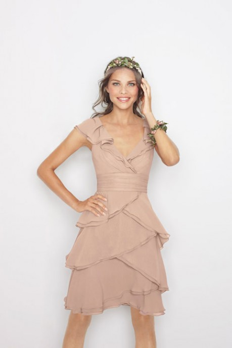 Beautiful A-Line Empire Waist Bridesmaid Dress in Chiffon