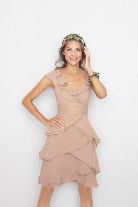 Beautiful A-Line Empire Waist Bridesmaid Dress in Chiffon