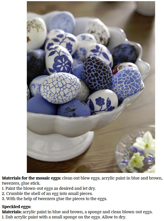 decorate Easter Eggs with Colored egg shells
