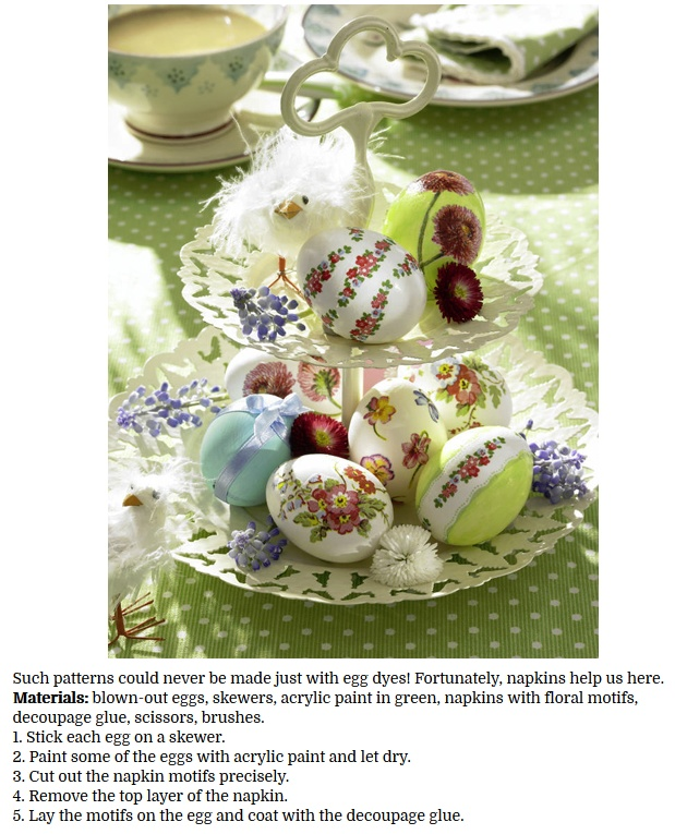 decorate Easter eggs with decoupage