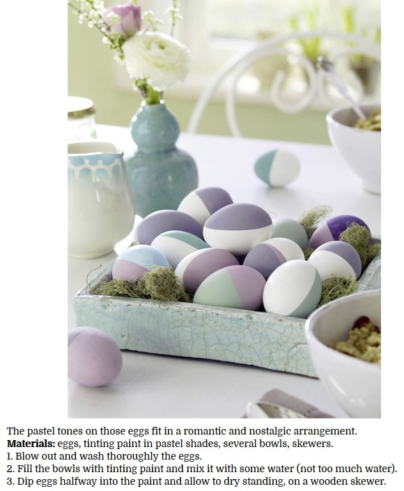 decorate eggs with pastel tinting paints