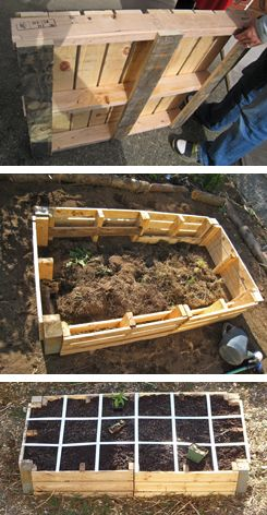 ideas pallets raised garden beds (18)