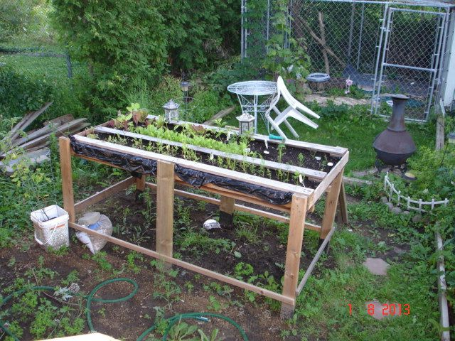 ideas pallets raised garden beds (20)