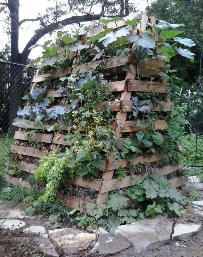 ideas pallets raised garden beds (23)