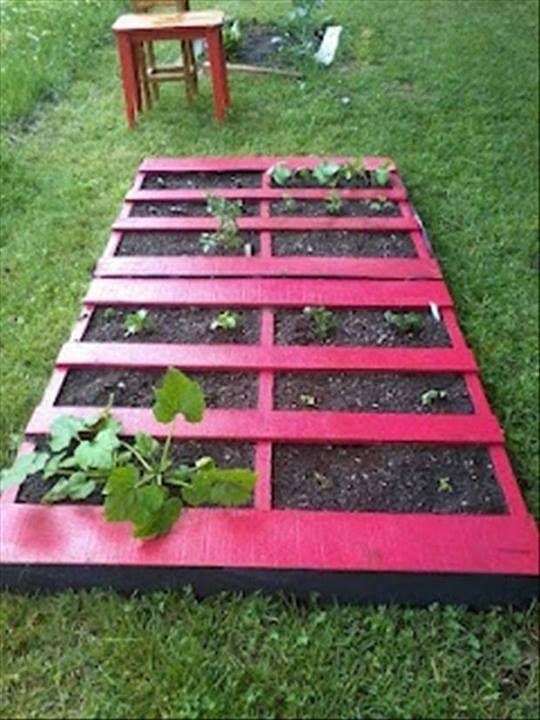 ideas pallets raised garden beds (8)