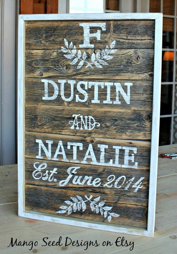 pallet sign wedding