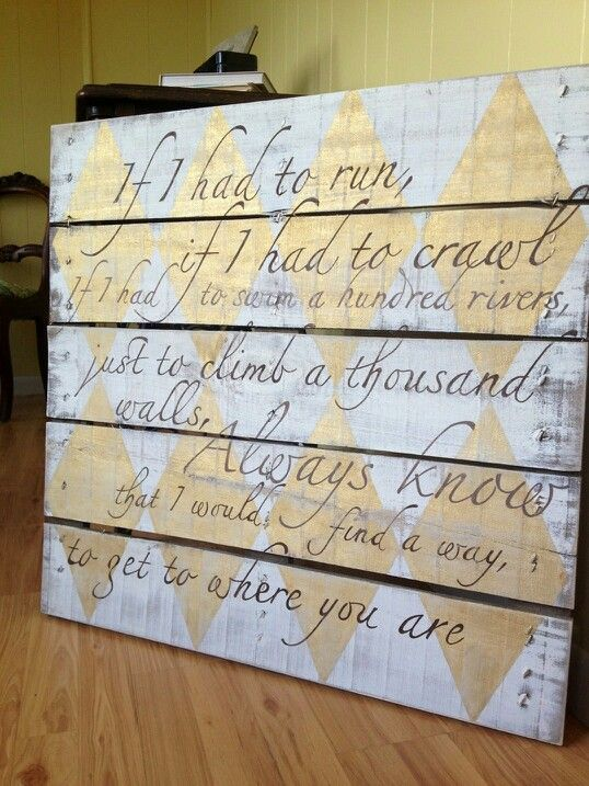song lyrics on wedding pallet