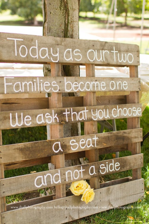 wedding decoration, pallet decor