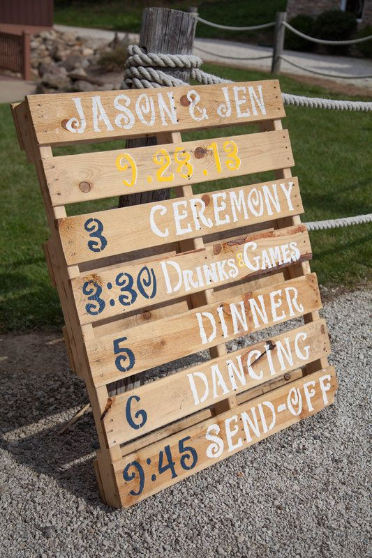 wedding pallet sign